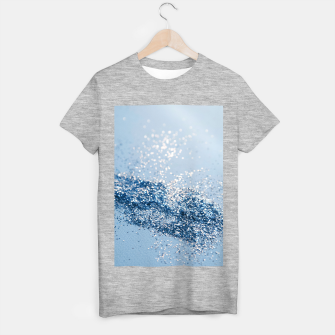 Thumbnail image of Sparkling Classic Blue Ocean Lady Glitter #1 (Faux Glitter) #shiny #decor #art  T-Shirt regulär, Live Heroes