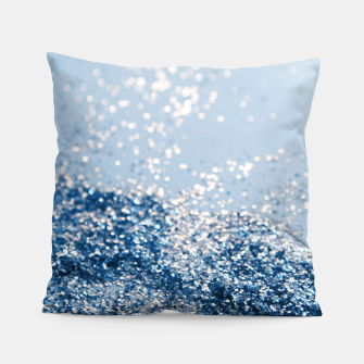 Thumbnail image of Sparkling Classic Blue Ocean Lady Glitter #1 (Faux Glitter) #shiny #decor #art  Kissen, Live Heroes