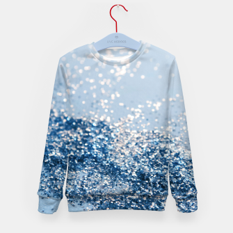 Thumbnail image of Sparkling Classic Blue Ocean Lady Glitter #1 (Faux Glitter) #shiny #decor #art  Kindersweatshirt, Live Heroes