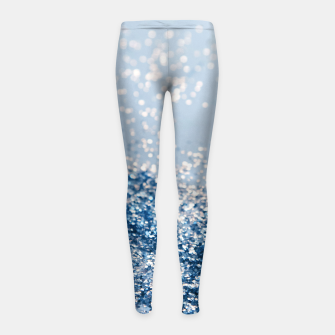 Thumbnail image of Sparkling Classic Blue Ocean Lady Glitter #1 (Faux Glitter) #shiny #decor #art  Kinder-Leggins, Live Heroes