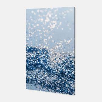 Thumbnail image of Sparkling Classic Blue Ocean Lady Glitter #1 (Faux Glitter) #shiny #decor #art  Canvas, Live Heroes