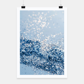 Thumbnail image of Sparkling Classic Blue Ocean Lady Glitter #1 (Faux Glitter) #shiny #decor #art  Plakat, Live Heroes