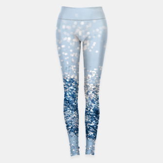 Sparkling Classic Blue Ocean Lady Glitter #1 (Faux Glitter) #shiny #decor #art  Leggings obraz miniatury