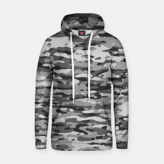 Miniatur Grey Camouflage Pattern  Kapuzenpullover, Live Heroes