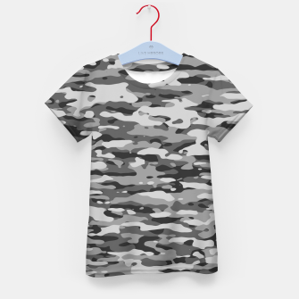 Thumbnail image of Grey Camouflage Pattern  T-Shirt für kinder, Live Heroes
