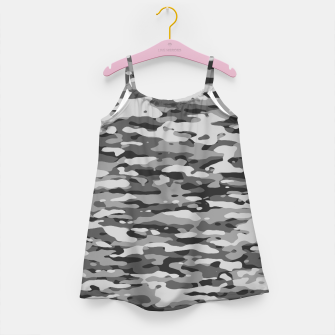 Thumbnail image of Grey Camouflage Pattern  Mädchenkleid, Live Heroes