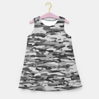 Thumbnail image of Grey Camouflage Pattern  Mädchen-Sommerkleid, Live Heroes