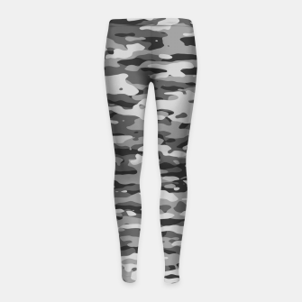 Thumbnail image of Grey Camouflage Pattern  Kinder-Leggins, Live Heroes