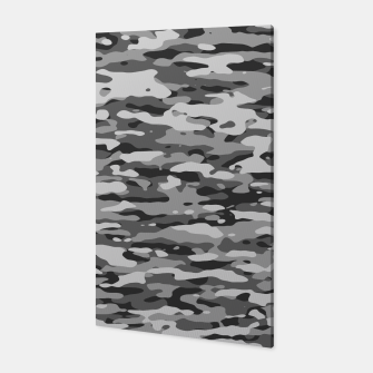Grey Camouflage Pattern  Canvas thumbnail image