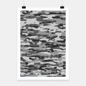 Miniatur Grey Camouflage Pattern  Plakat, Live Heroes