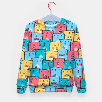Miniatur Colorful Cats Kid's sweater, Live Heroes