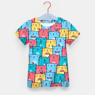 Miniatur Colorful Cats Kid's t-shirt, Live Heroes