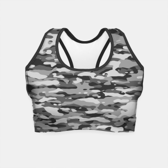 Grey Camouflage Pattern  Crop Top thumbnail image