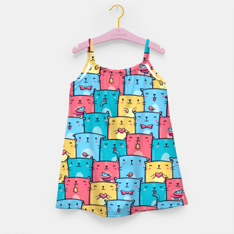 Colorful Cats Girl's dress thumbnail image