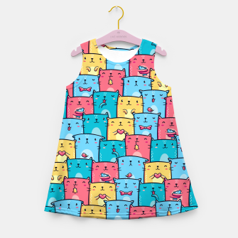 Colorful Cats Girl's summer dress thumbnail image