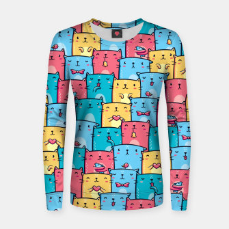 Colorful Cats Women sweater thumbnail image