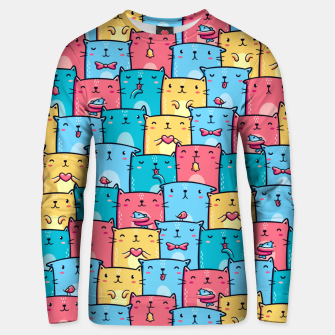 Colorful Cats Unisex sweater thumbnail image