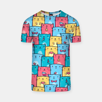 Thumbnail image of Colorful Cats T-shirt, Live Heroes