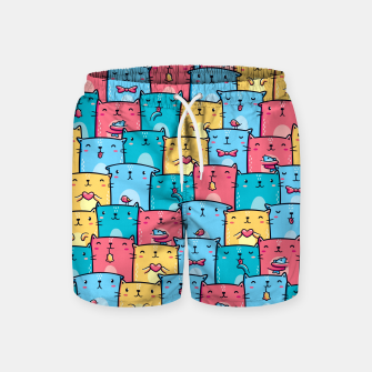 Thumbnail image of Colorful Cats Swim Shorts, Live Heroes