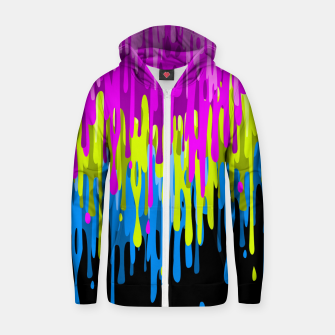 Thumbnail image of Psychedelic painting Sudadera con capucha y cremallera , Live Heroes