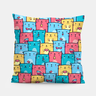Colorful Cats Pillow thumbnail image