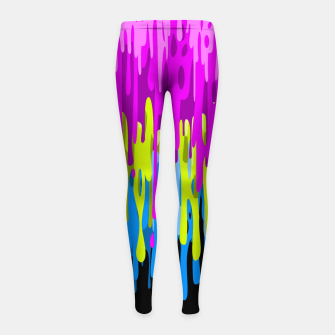 Psychedelic painting Leggings para niña miniature