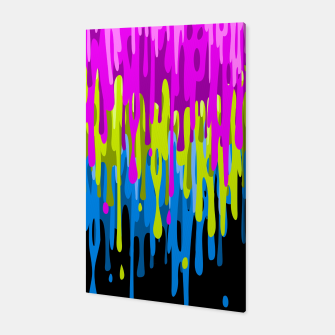 Psychedelic painting Canvas miniature