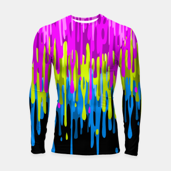 Miniatur Psychedelic painting Longsleeve rashguard, Live Heroes