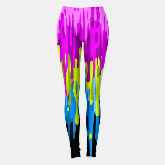 Psychedelic painting Leggings miniature