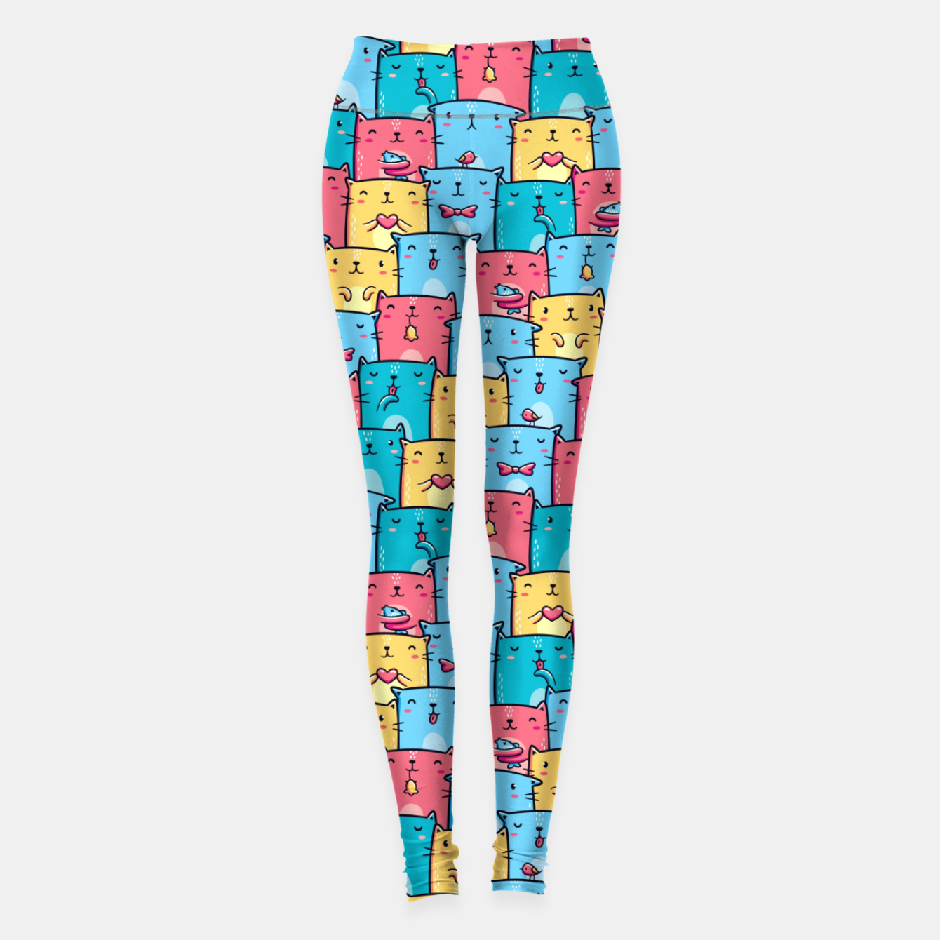 Image of Colorful Cats Leggings - Live Heroes