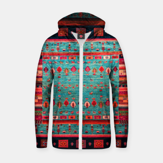 Thumbnail image of Antique Colored Traditional Moroccan Artwork Zip up hoodie, Live Heroes