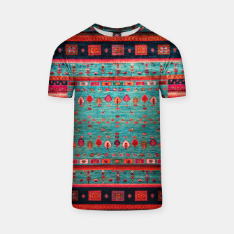 Thumbnail image of Antique Colored Traditional Moroccan Artwork T-shirt, Live Heroes
