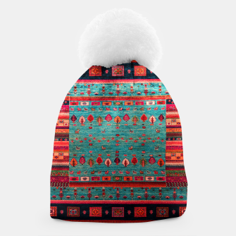 Thumbnail image of Antique Colored Traditional Moroccan Artwork Beanie, Live Heroes