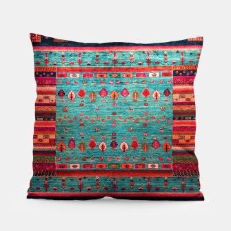 Thumbnail image of Antique Colored Traditional Moroccan Artwork Pillow, Live Heroes