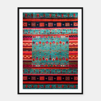Thumbnail image of Antique Colored Traditional Moroccan Artwork Framed poster, Live Heroes