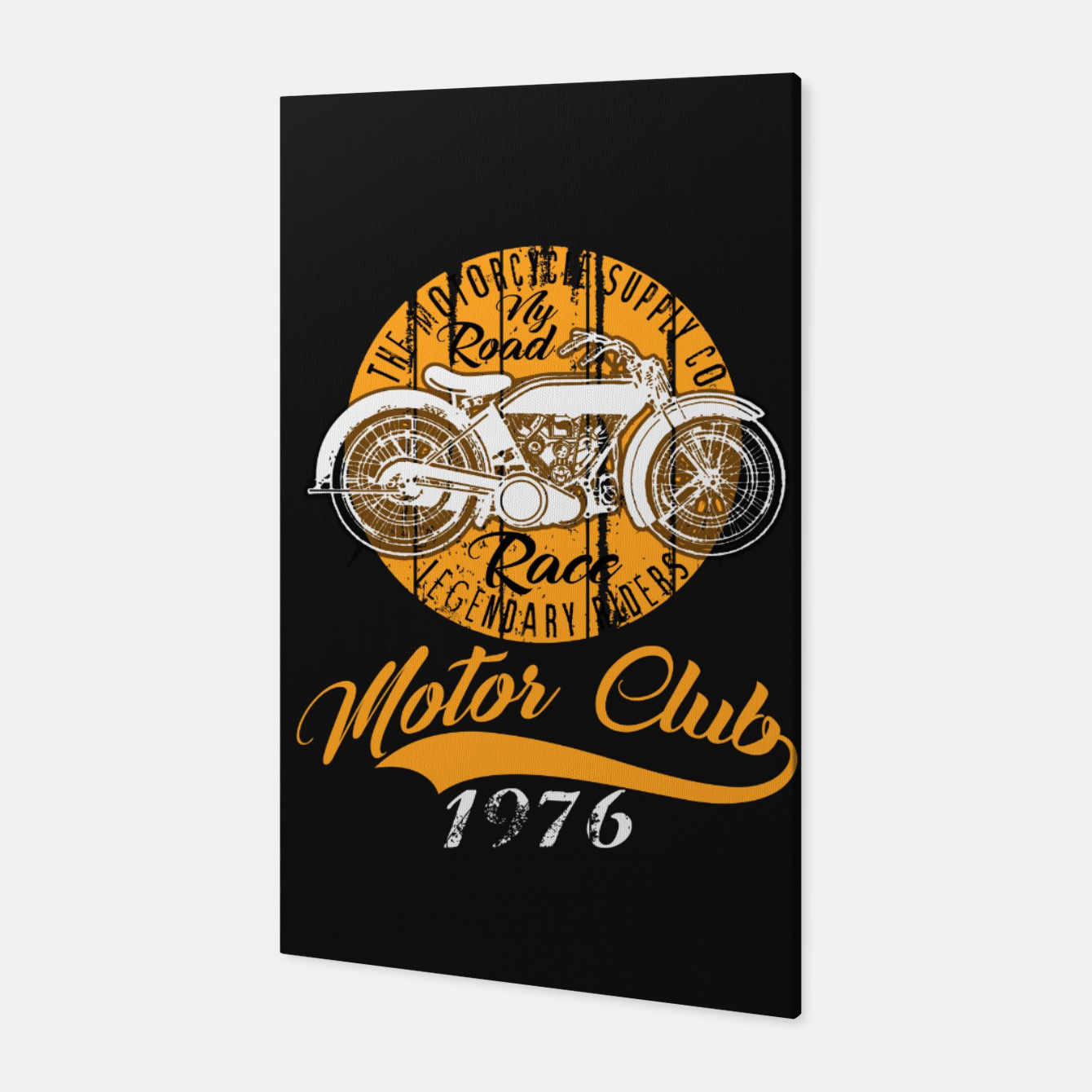 Image of THE MOTORCYCLE SUPPLY co - MOTOR CLUB by ANIMOX Canvas - Live Heroes
