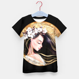 Thumbnail image of Beautiful brunette Kid's t-shirt, Live Heroes