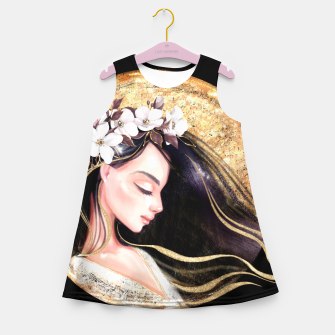 Thumbnail image of Beautiful brunette Girl's summer dress, Live Heroes