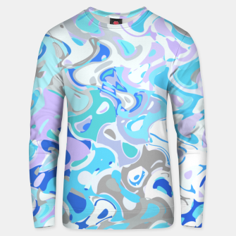 Imagen en miniatura de Baby blue mess, abstraction in fresh colors, winter theme Unisex sweater, Live Heroes