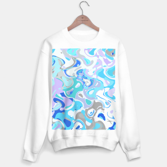 Imagen en miniatura de Baby blue mess, abstraction in fresh colors, winter theme Sweater regular, Live Heroes
