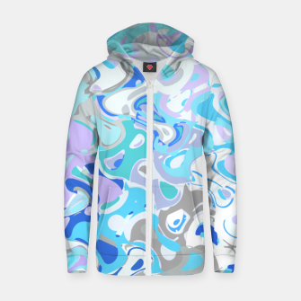 Imagen en miniatura de Baby blue mess, abstraction in fresh colors, winter theme Zip up hoodie, Live Heroes