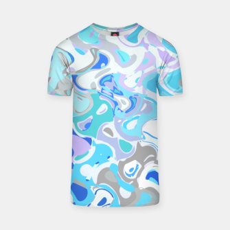 Imagen en miniatura de Baby blue mess, abstraction in fresh colors, winter theme T-shirt, Live Heroes