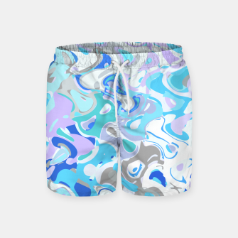 Imagen en miniatura de Baby blue mess, abstraction in fresh colors, winter theme Swim Shorts, Live Heroes