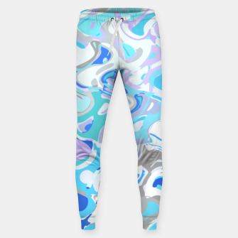 Imagen en miniatura de Baby blue mess, abstraction in fresh colors, winter theme Sweatpants, Live Heroes