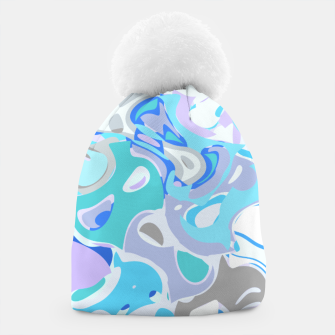 Imagen en miniatura de Baby blue mess, abstraction in fresh colors, winter theme Beanie, Live Heroes