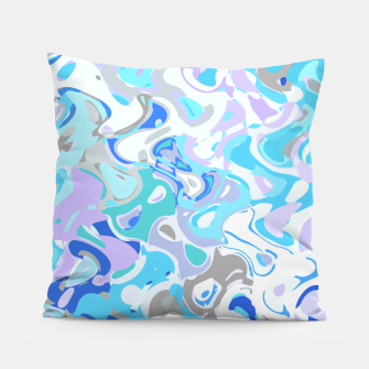 Imagen en miniatura de Baby blue mess, abstraction in fresh colors, winter theme Pillow, Live Heroes