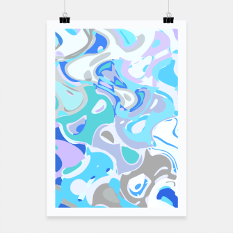 Imagen en miniatura de Baby blue mess, abstraction in fresh colors, winter theme Poster, Live Heroes
