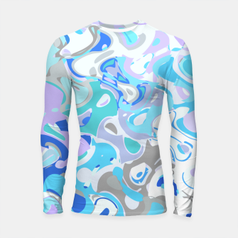 Imagen en miniatura de Baby blue mess, abstraction in fresh colors, winter theme Longsleeve rashguard , Live Heroes