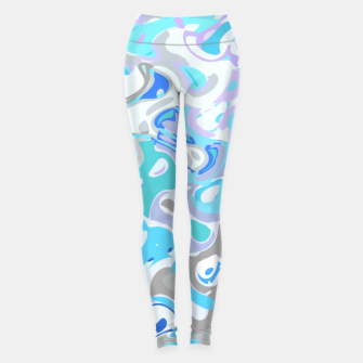 Imagen en miniatura de Baby blue mess, abstraction in fresh colors, winter theme Leggings, Live Heroes