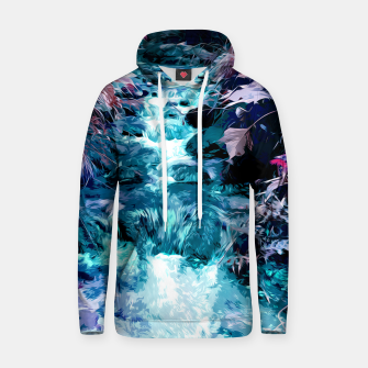 Thumbnail image of Magical mountain river, fairy colors, leaves, water, peaceful nature view Hoodie, Live Heroes
